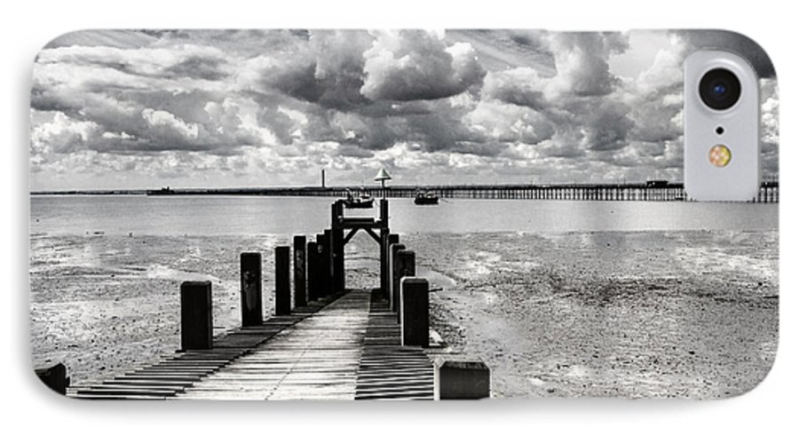 Wharf Southend Essex England Beach Sky IPhone 7 Case featuring the photograph Derelict Wharf by Sheila Smart Fine Art Photography