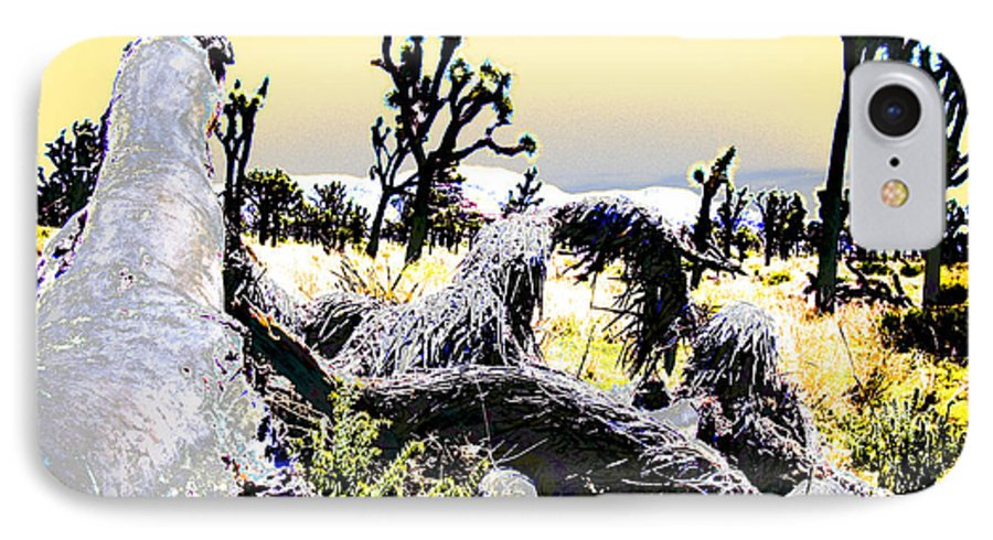 Desert IPhone 7 Case featuring the photograph Desert Landscape - Joshua Tree National Monment by Ann Tracy