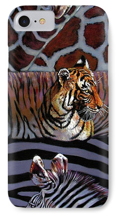 Animals IPhone 7 Case featuring the painting Designs For Defense And Offense by John Lautermilch