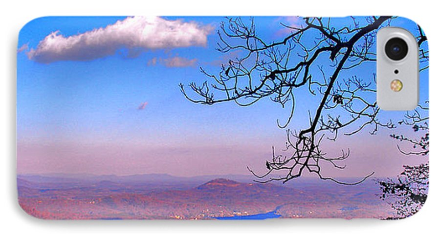 Landscape IPhone 7 Case featuring the photograph Detail From Reaching For A Cloud by Steve Karol