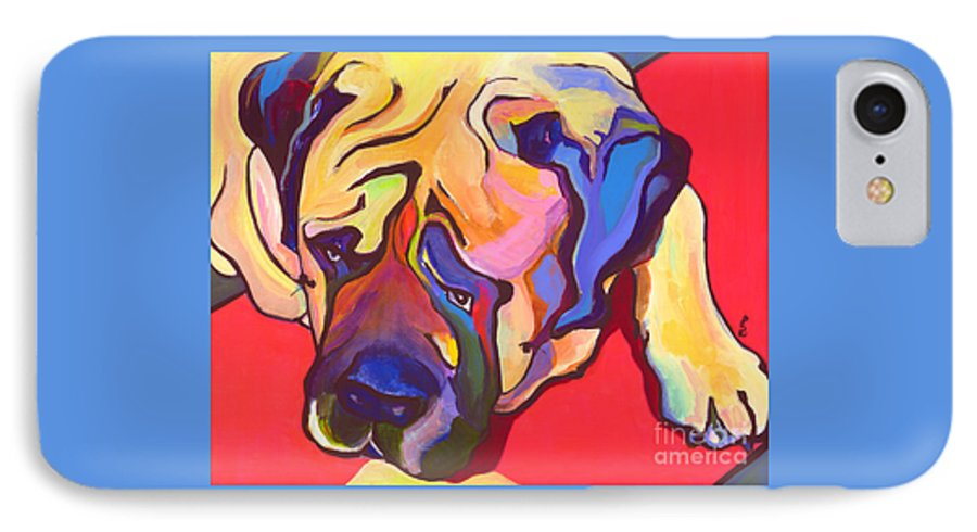 Mastiff IPhone 7 Case featuring the painting Diesel  by Pat Saunders-White