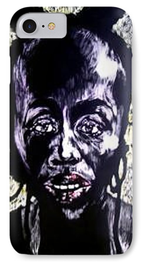 International Womens Day IPhone 7 Case featuring the mixed media Digital Divide by Chester Elmore