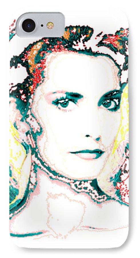 Digital IPhone 7 Case featuring the digital art Digital Self Portrait by Kathleen Sepulveda