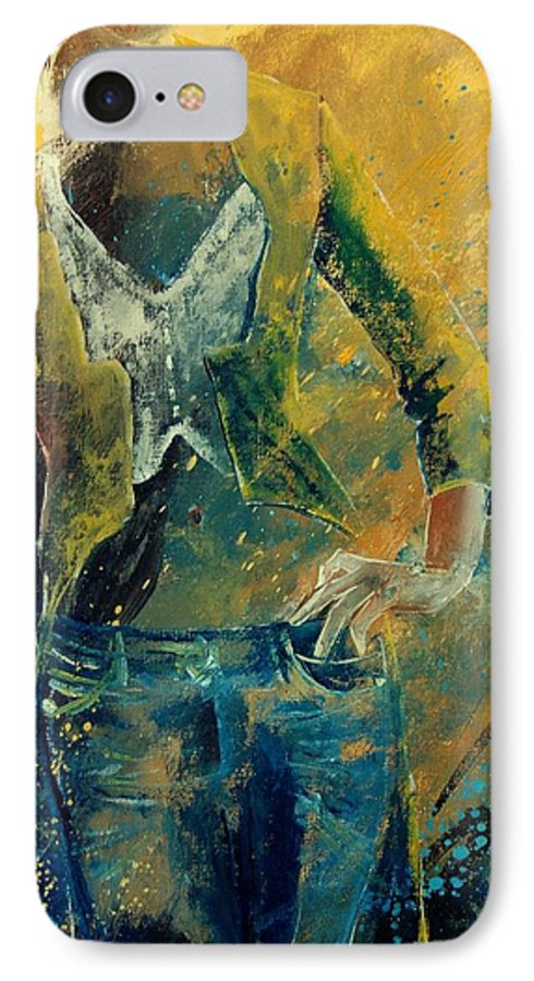 Woman Girl Fashion IPhone 7 Case featuring the painting Dinner Jacket by Pol Ledent