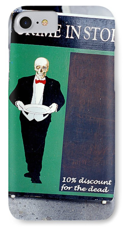 Dead IPhone 7 Case featuring the photograph Discount For The Dead by Carl Purcell