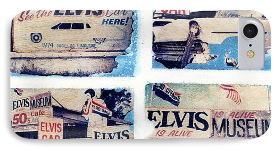 Elvis IPhone 7 Case featuring the photograph Disgraceland by Jane Linders