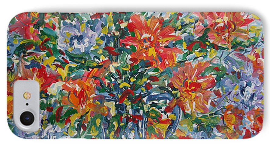 Painting IPhone 7 Case featuring the painting Divine Happiness. by Leonard Holland