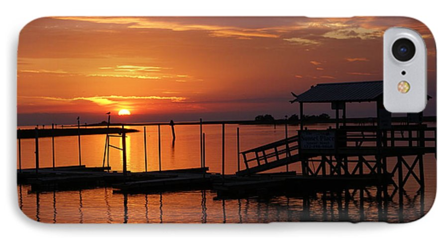 Dock IPhone 7 Case featuring the photograph Dock Of The Bay by Debbie May
