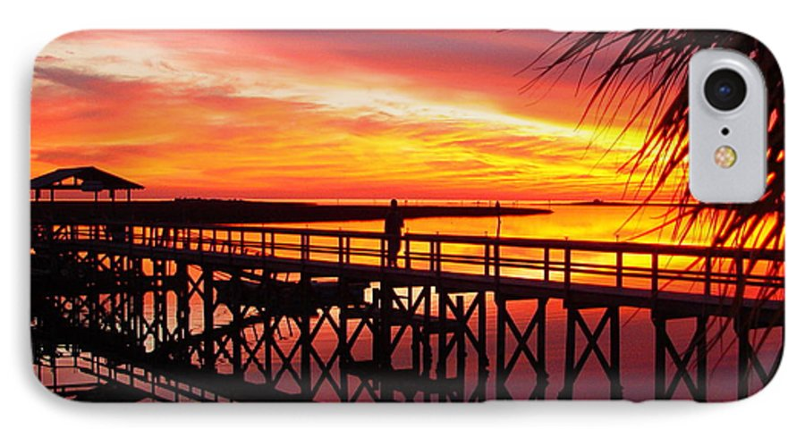 Palms IPhone 7 Case featuring the photograph Docking It by Debbie May