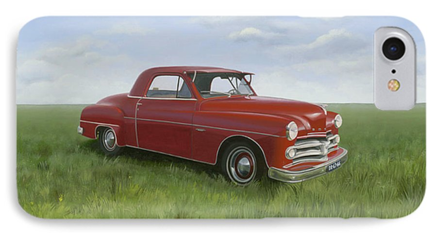 Classic IPhone 7 Case featuring the painting Dodge by Patricia Van Lubeck