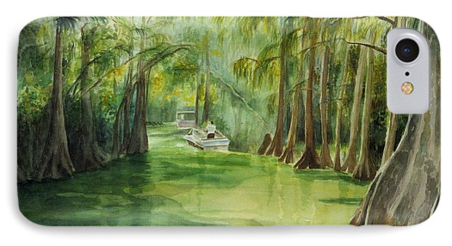 Passage Between Lakes IPhone 7 Case featuring the painting Dora Passage by Judy Swerlick