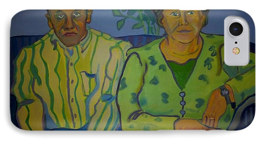 Older Couple IPhone 7 Case featuring the painting Dottie And Jerry by Debra Bretton Robinson