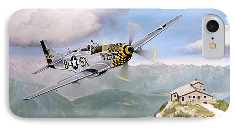 Military IPhone 7 Case featuring the painting Double Trouble Over The Eagle by Marc Stewart