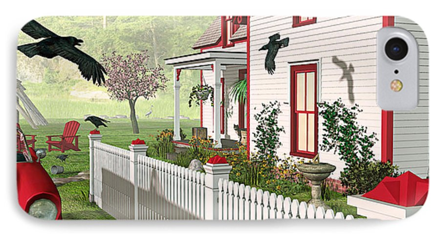 Victorian House IPhone 7 Case featuring the photograph Downeast Morning by Peter J Sucy