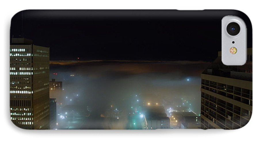Photograph IPhone 7 Case featuring the photograph downtown Calgary2 by Seon-Jeong Kim