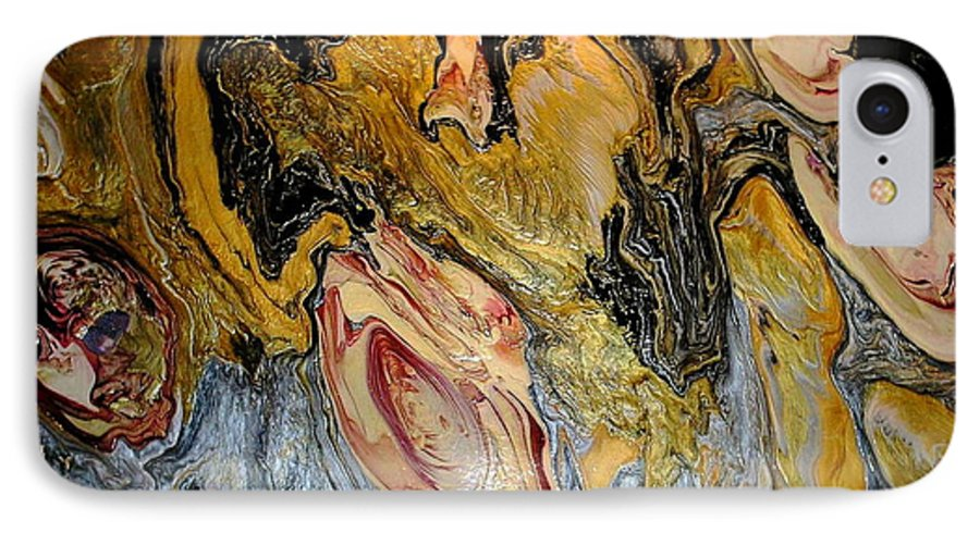 Abstract IPhone 7 Case featuring the painting Dragon Dream by Patrick Mock