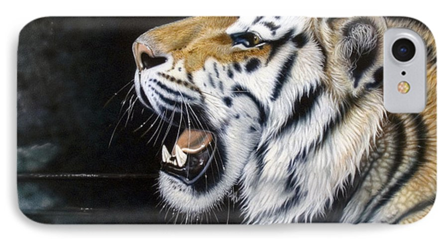 Tiger IPhone 7 Case featuring the painting Dragonfly by Sandi Baker