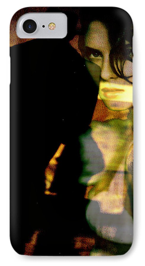 Mystery IPhone 7 Case featuring the digital art Drama After Dark by Seth Weaver