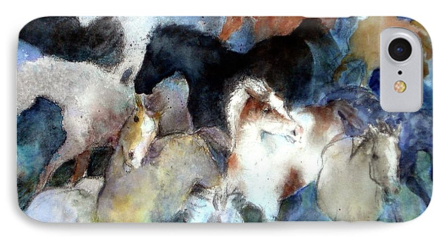 Horses IPhone 7 Case featuring the painting Dream Of Wild Horses by Christie Michelsen