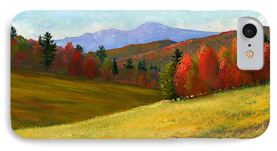 Landscape IPhone 7 Case featuring the painting Early October by Frank Wilson