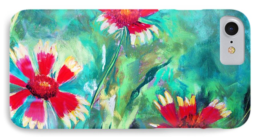 Flowers IPhone 7 Case featuring the painting East Texas Wild Flowers by Melinda Etzold