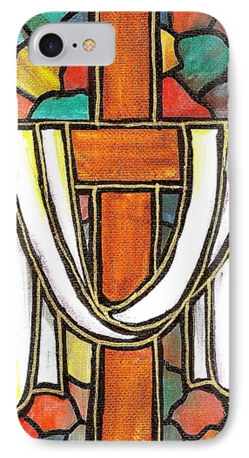 Easter IPhone 7 Case featuring the painting Easter Cross 6 by Jim Harris