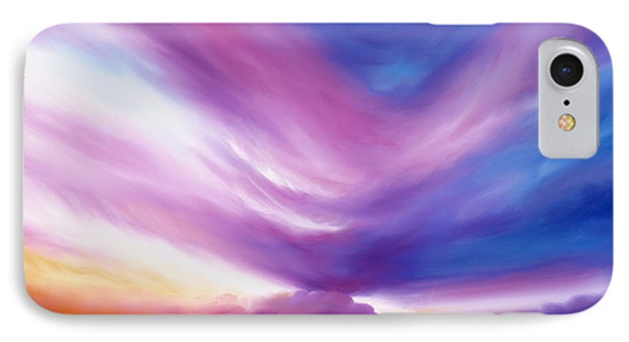 Clouds IPhone 7 Case featuring the painting Ecstacy by James Christopher Hill