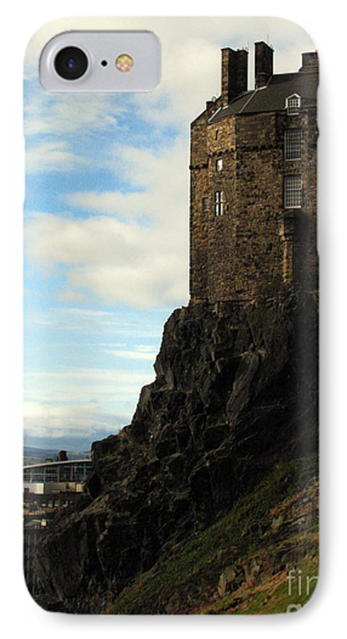 Castle IPhone 7 Case featuring the photograph Edinburgh Castle by Amanda Barcon