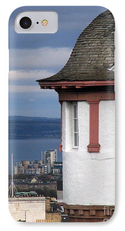 Scotland IPhone 7 Case featuring the digital art Edinburgh Scotland by Amanda Barcon