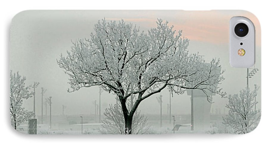 White IPhone 7 Case featuring the photograph Eerie Days by Christine Till