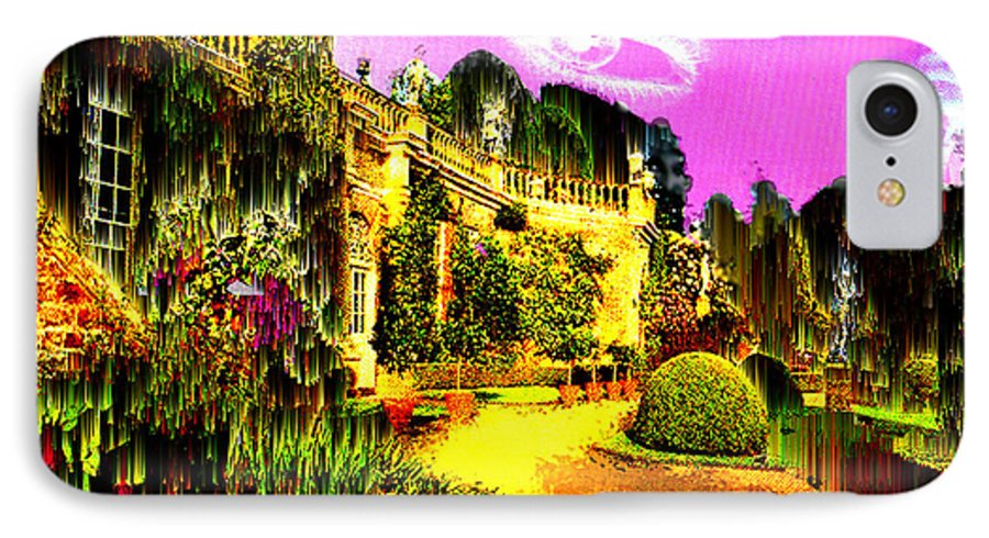 Mansion IPhone 7 Case featuring the digital art Eerie Estate by Seth Weaver