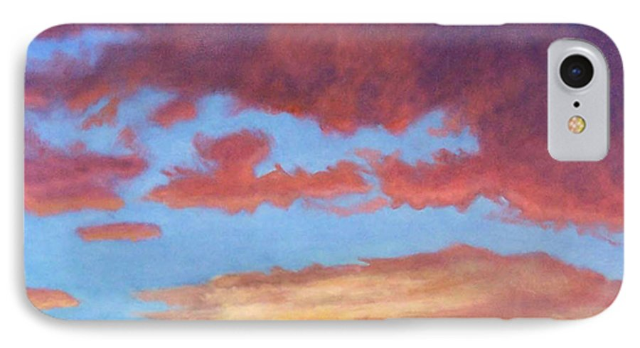 Sunset IPhone 7 Case featuring the painting El Dorado Sunset by Brian Commerford