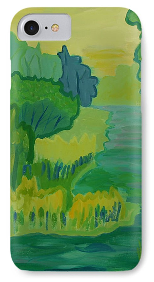 River IPhone 7 Case featuring the painting Ellis River by Debra Bretton Robinson