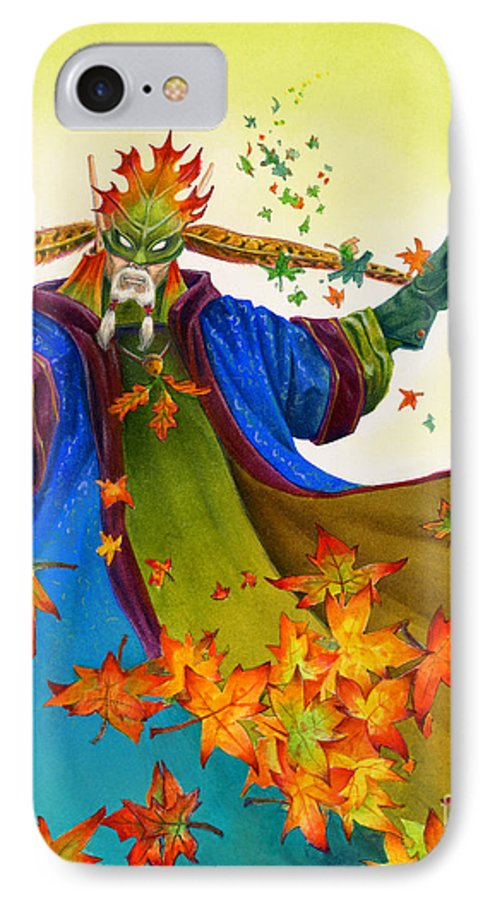 Elf IPhone 7 Case featuring the painting Elven Mage by Melissa A Benson