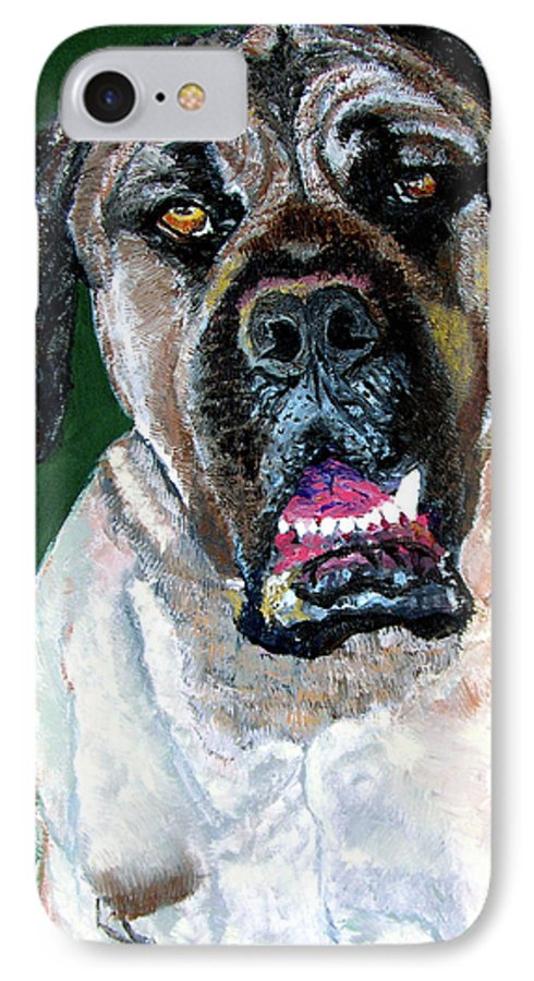 Dog Portrait IPhone 7 Case featuring the painting Ely by Stan Hamilton