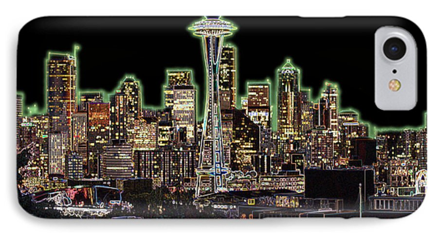 Colorful IPhone 7 Case featuring the photograph Emerald City by Larry Keahey