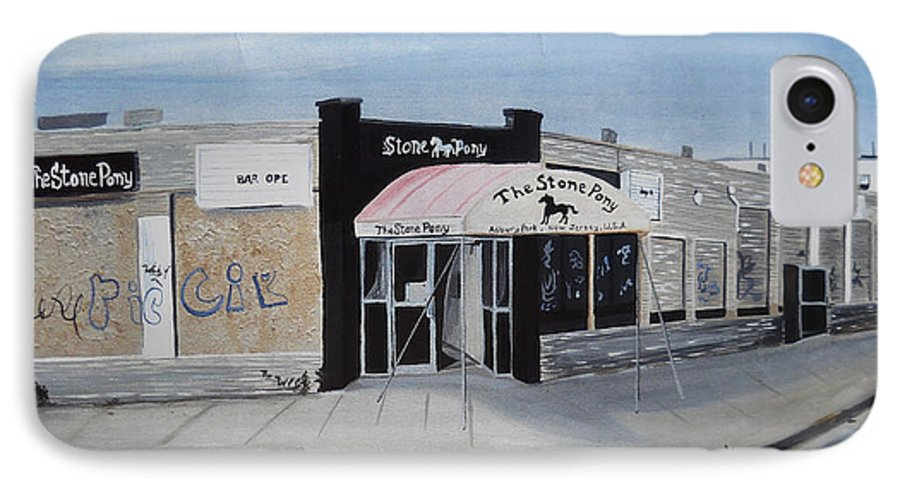 Acrylic Painting Of The Stone Pony IPhone 7 Case featuring the painting End Of An Era by Patricia Arroyo