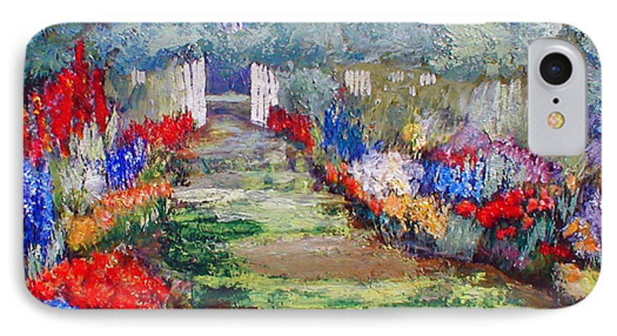 Landscape IPhone 7 Case featuring the painting Enter His Gates by Gail Kirtz
