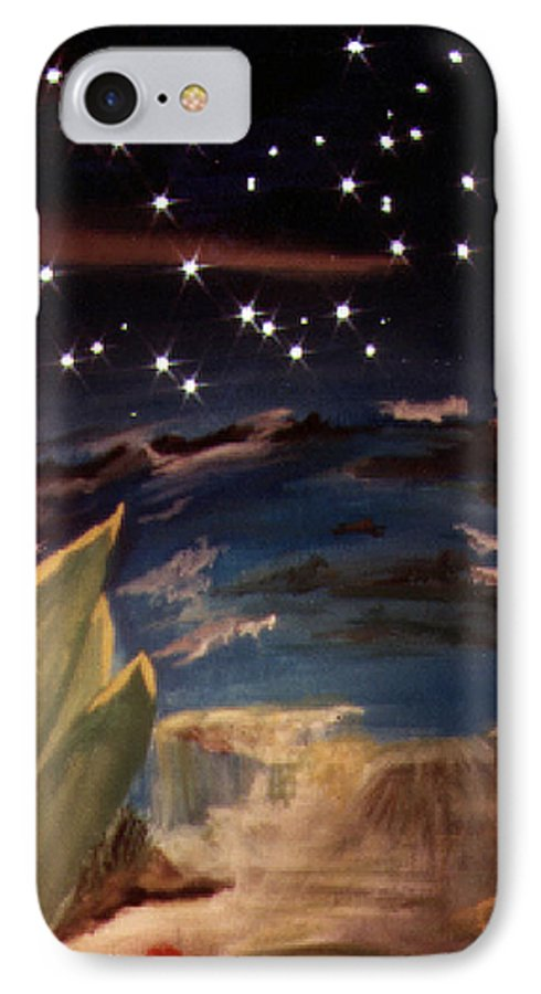 Surreal IPhone 7 Case featuring the painting Enter My Dream by Steve Karol