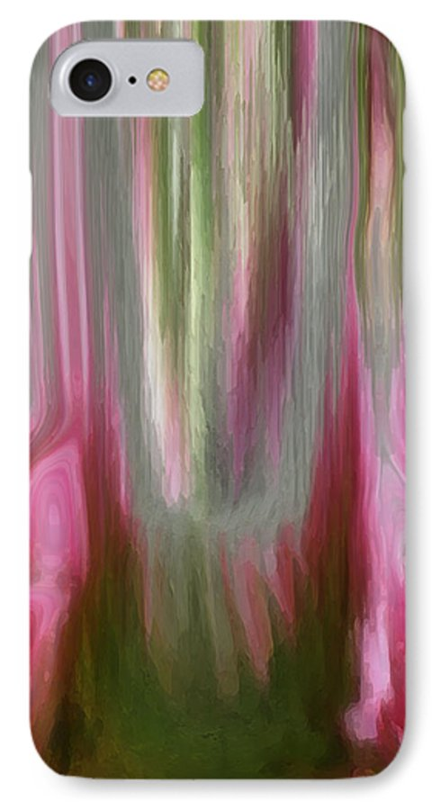 Abstract Art IPhone 7 Case featuring the digital art Entrance by Linda Sannuti