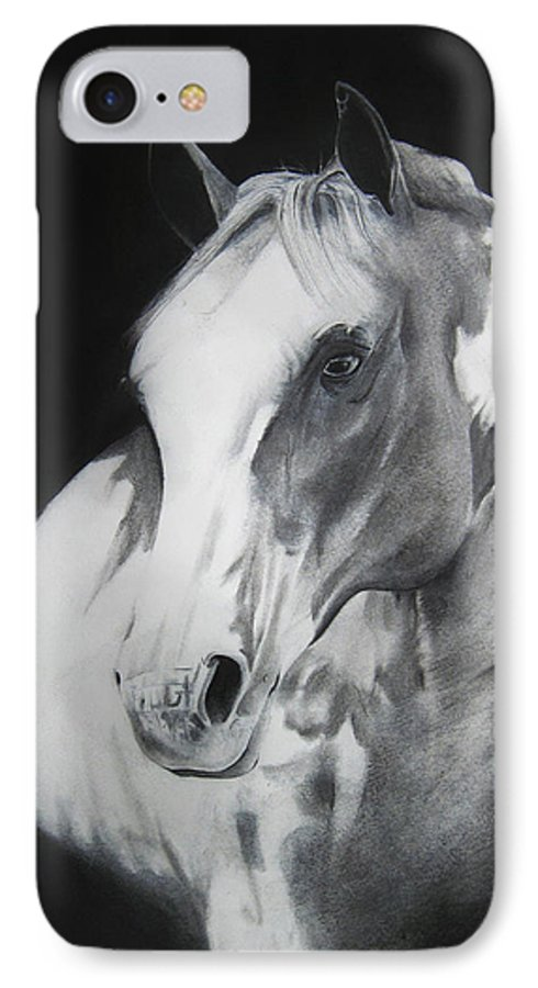 Horse IPhone 7 Case featuring the drawing Equestrian Beauty by Carrie Jackson