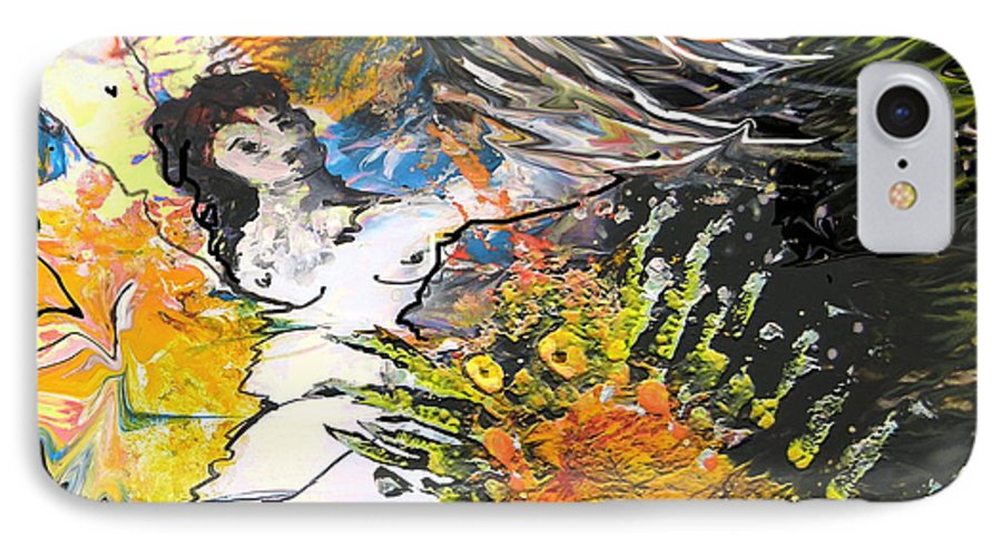 Miki IPhone 7 Case featuring the painting Erotype 07 2 by Miki De Goodaboom