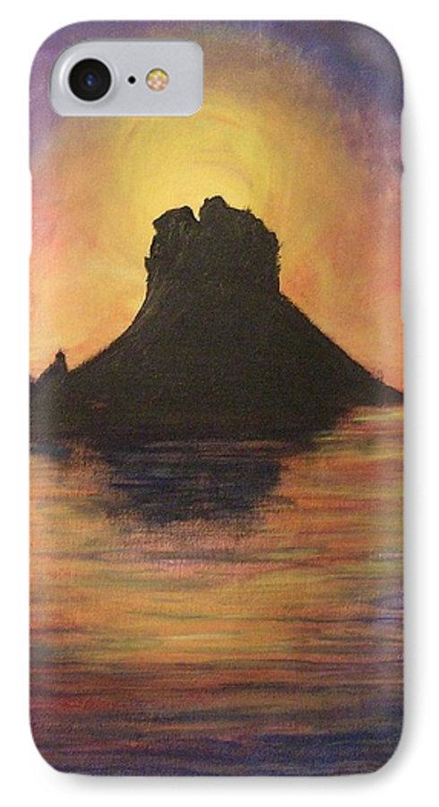 Sunset IPhone 7 Case featuring the painting Es Vedra Sunset I by Lizzy Forrester
