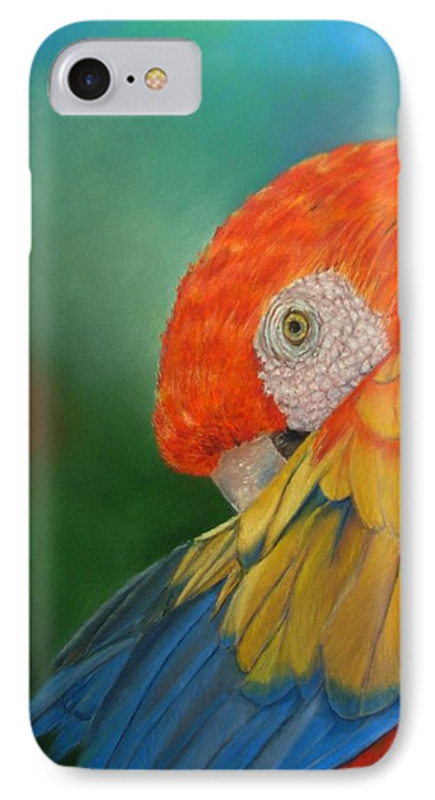 Bird IPhone 7 Case featuring the painting Escondida by Ceci Watson