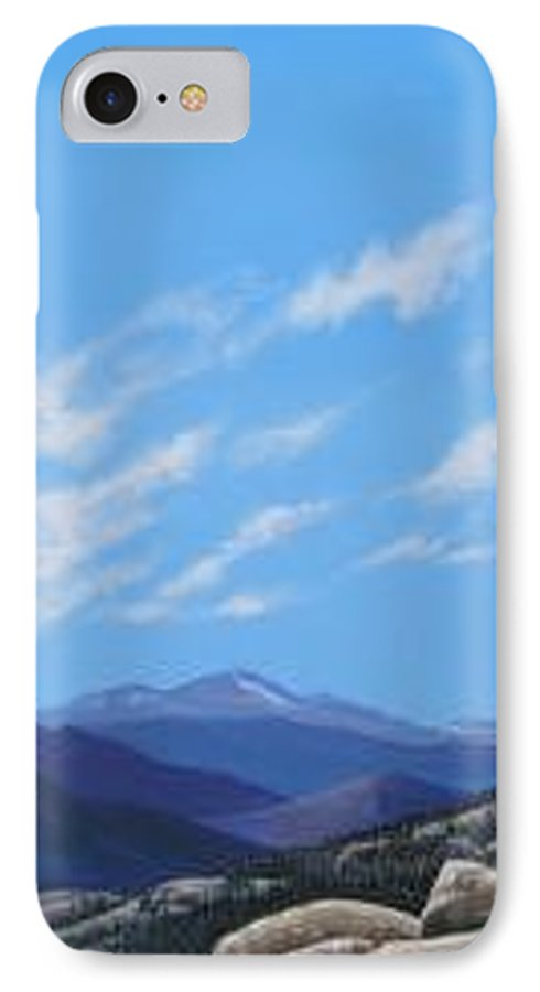 Estes Park IPhone 7 Case featuring the painting Estes Overlook by Hunter Jay