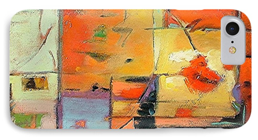 Abstract Painting IPhone 7 Case featuring the painting Evening Light by Gary Coleman