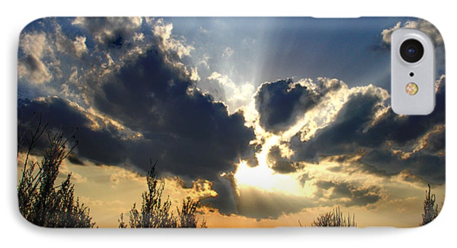 Landscape IPhone 7 Case featuring the photograph Evening Sky by Steve Karol