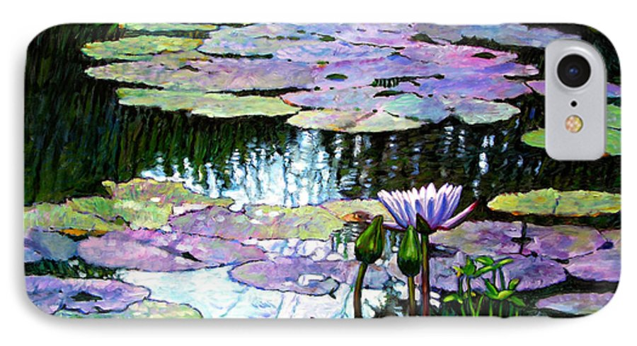 Landscape IPhone 7 Case featuring the painting Expressions Of Love And Peace by John Lautermilch