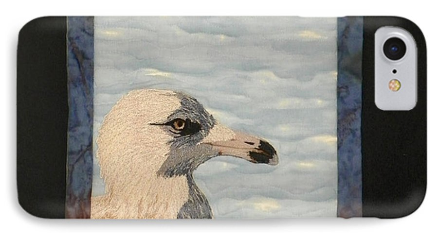 Birds IPhone 7 Case featuring the tapestry - textile Eye Of The Gull by Jenny Williams