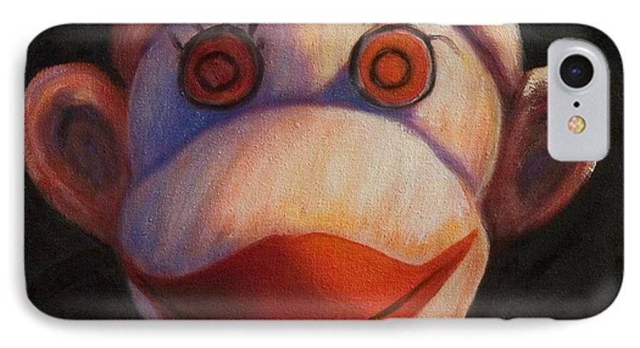 Children IPhone 7 Case featuring the painting Face by Shannon Grissom